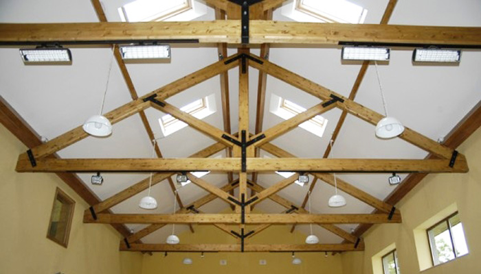 cork cedarlan structural feature trusses
